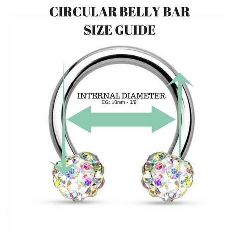 Belly Ring Jewellery Size Guide