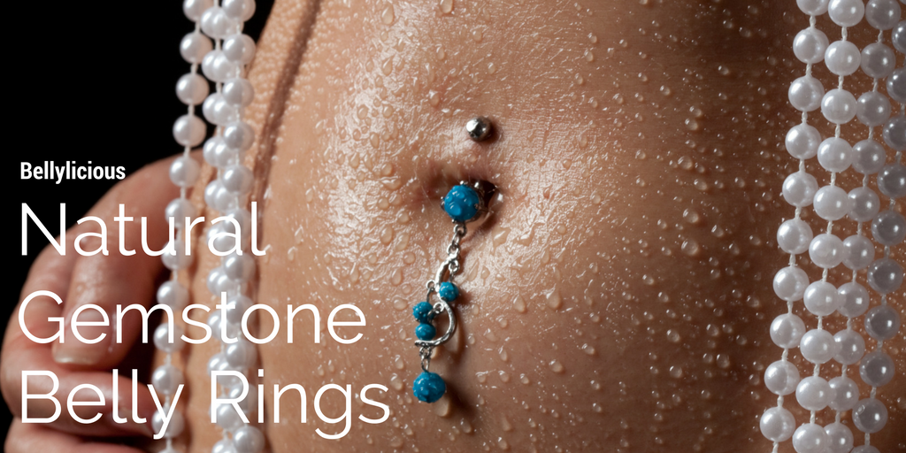 Natural Gemstone Belly Rings
