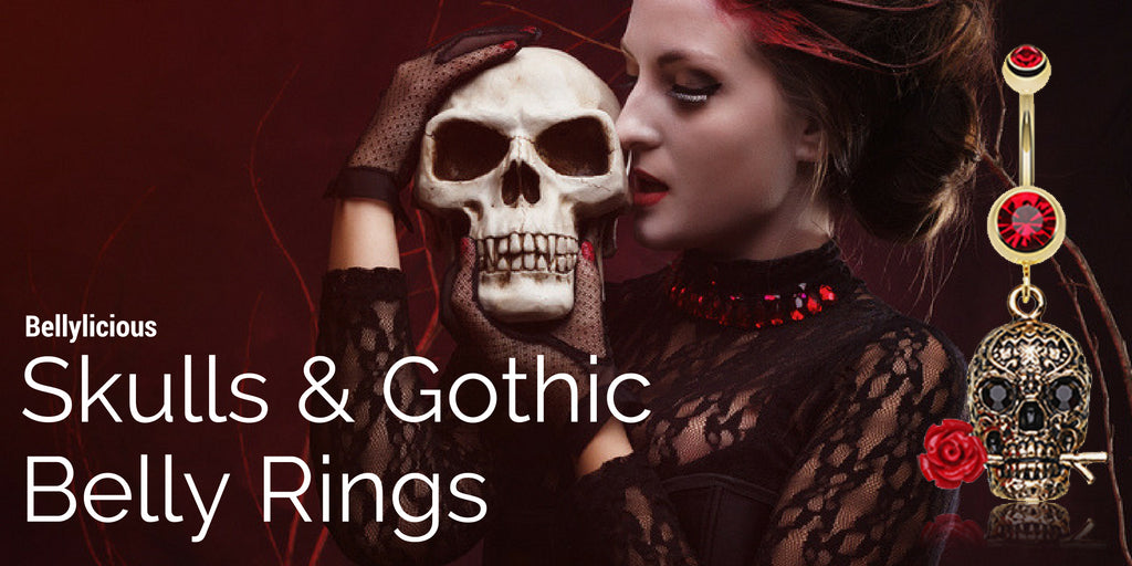 Skulls and Gothic Belly Rings