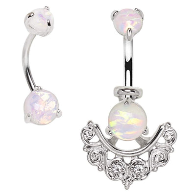 Two Piece All Dolled Up Opal Belly Bar