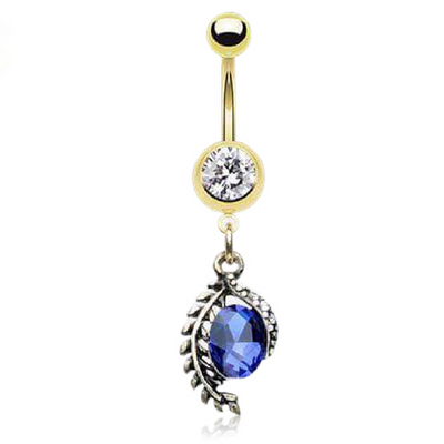 Tropical Themed Belly Button Ring