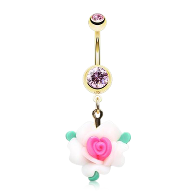 Golden Fairytale Flower Belly Bar