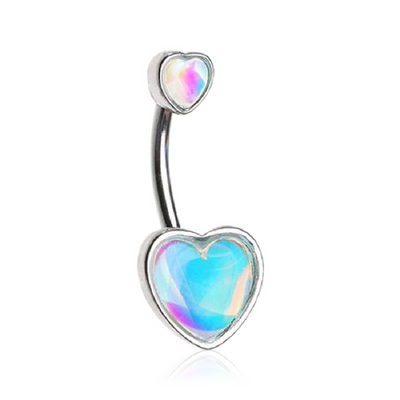 Illuminated Retro Hearts Belly Bar