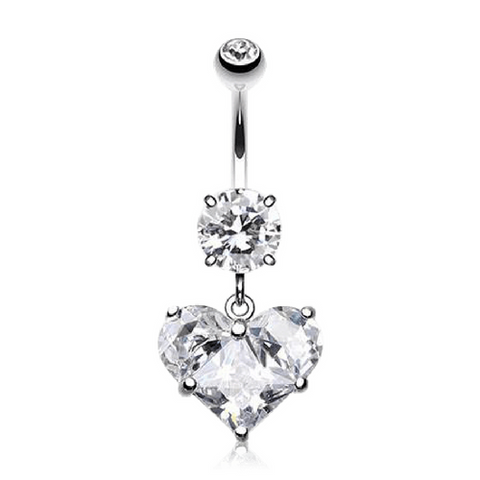 Dangly Heart Navel Ring