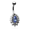 Feeling the Breeze Tropical Leaf Belly Ring