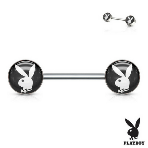 Authentic Playboy Bunny Inlay 316L Surgical Steel Nipple Ring