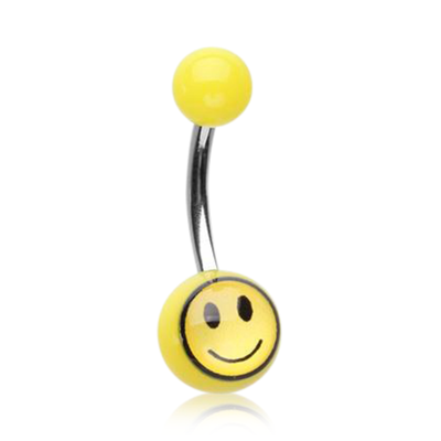 Smiley Face Belly Ring