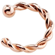 Solid 14K Rose Gold Twisted Nose Hoops