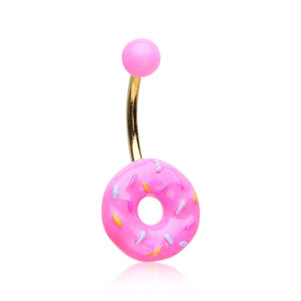 Donut Queen Frosted Pink Donut Belly Bar