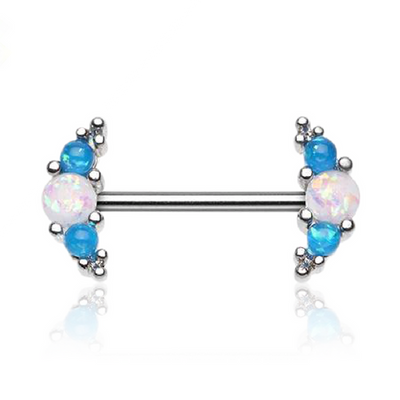 Luscious Opalescent Nipple Barbell