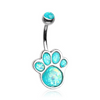 The Paw Print Belly Button Ring