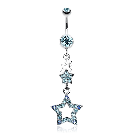 Light the Way with Stars Belly Button Ring