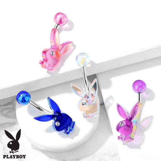 Licensed ©Playboy Bunny Acrylic Belly Rings