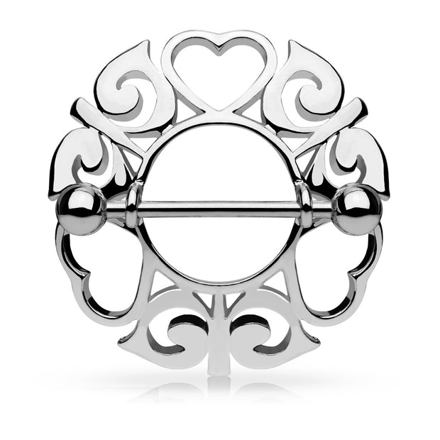 Luxe Valentine Heart Nipple Shield. Surgical Steel