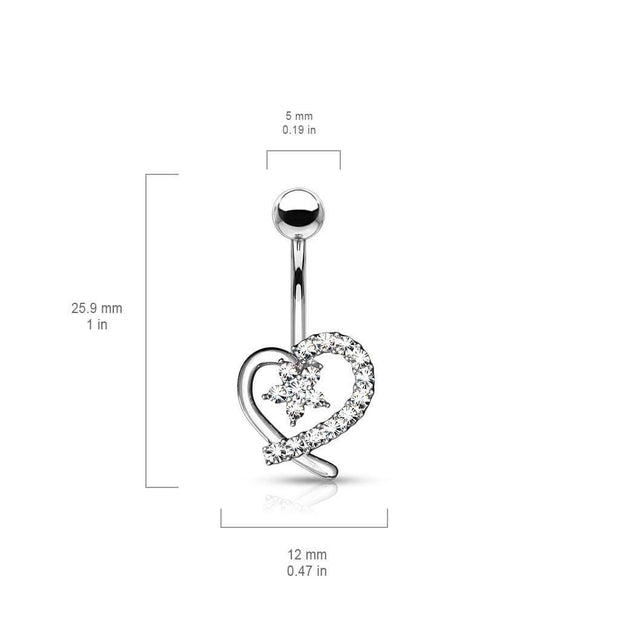 Amors Blooming Heart Belly Bar