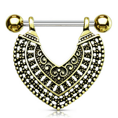 Golden Nairobi Spirit Dangle Nipple Ring