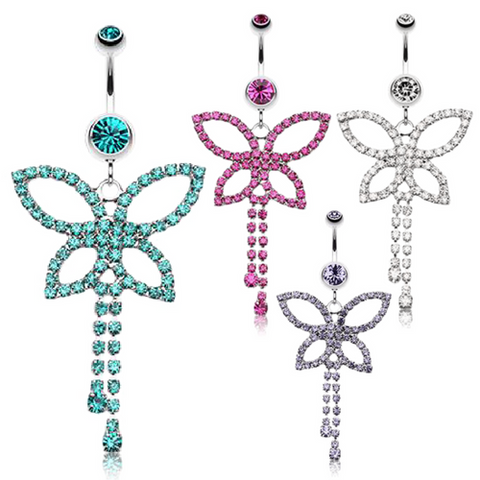Fantasy Flutter Butterfly Belly Ring