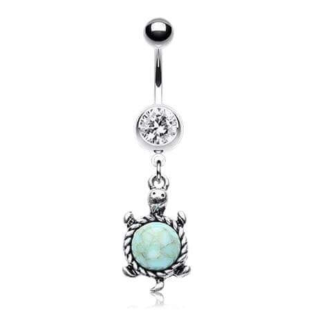 My Little Turquoise Turtle Belly Bar