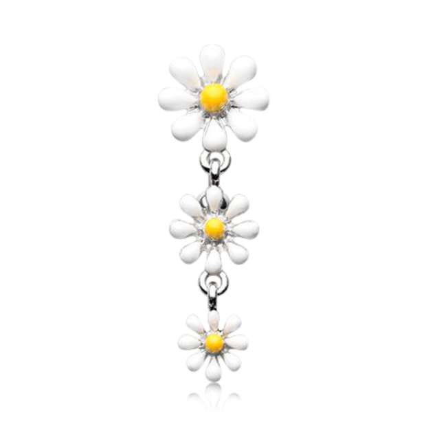 Sweet Marguerite Flower Reverse Belly Bar