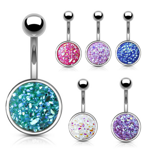 Druzy Stone Cup Belly Bar