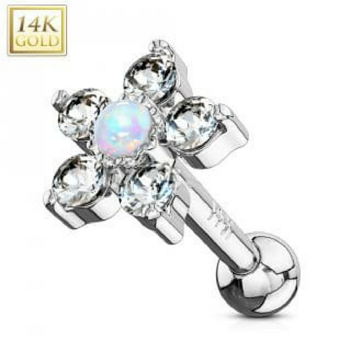 14k White Gold Tragus Rings