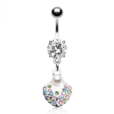 Silver Shell Belly Ring