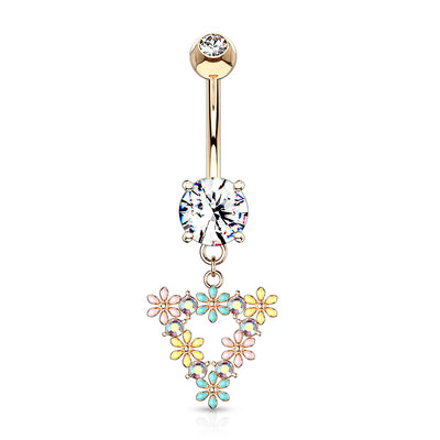 Floral Rhapsody Belly Bar in Rose Gold