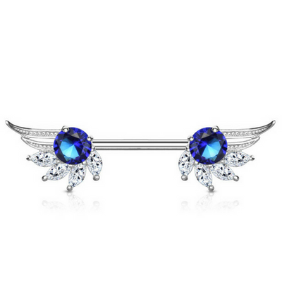 Royal Angelic Wings Nipple Barbell Ring