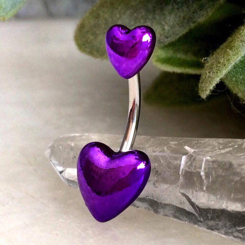 Purple Passion Puffed Hearts Belly Bar