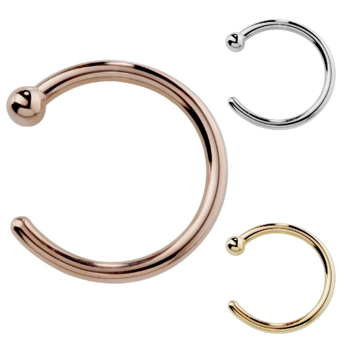 Solid 14K Gold Nose Hoops