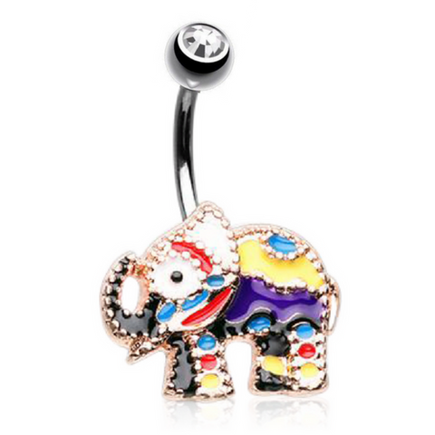 Cute Festival Elephant Belly Button Ring