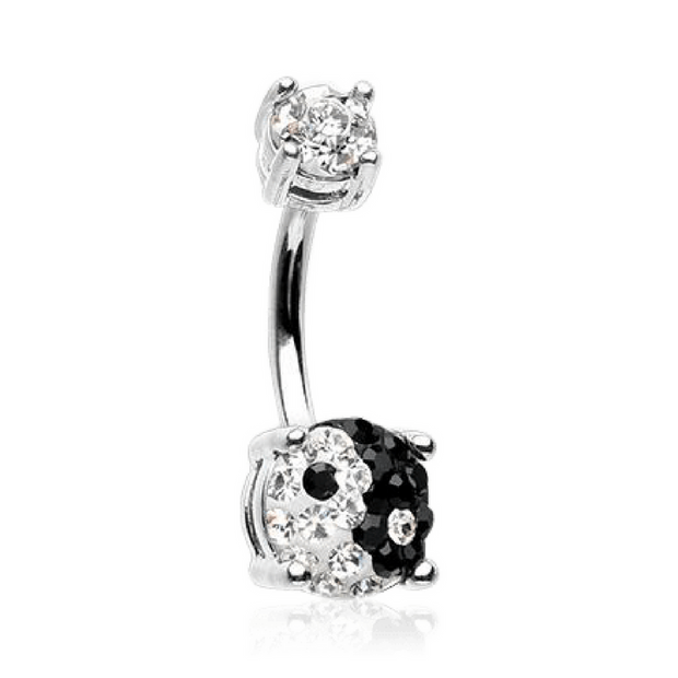 Ying and Yang Belly Ring
