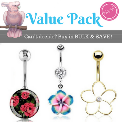 Flower Value Pack Belly Rings