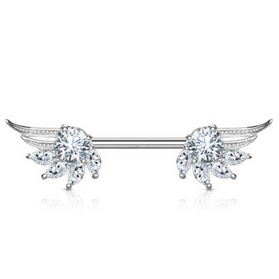 Angelic Wings Nipple Barbell Ring
