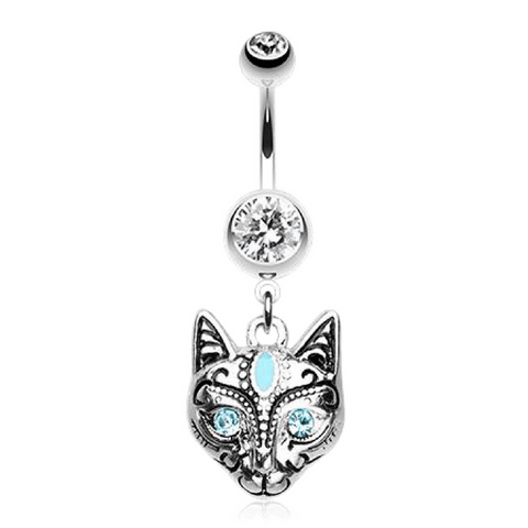 Egyptian Mau Cat Belly Ring