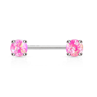 Lava Sparkles Pink Opal Nipple Barbell