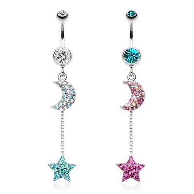 Vivid Night Sky Belly Dangle