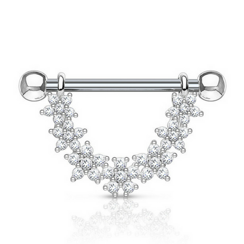 Jewelled Daisy Chain Dangly Nipple Ring