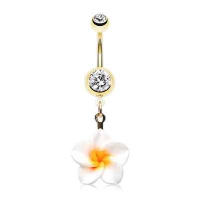 Golden Paradise Frangipani Belly Dangle