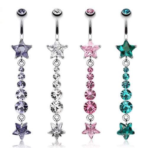 Night Sky Twinkle Star Belly Dangle