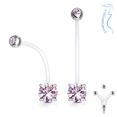 Glitter Babe Flex Gem Maternity Belly Rings