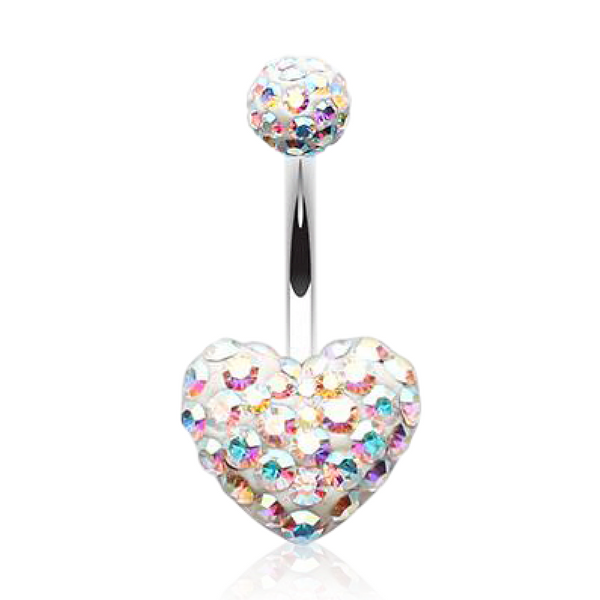 Tiffany Style Heart Belly Bar