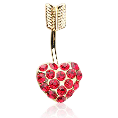 Cupids Heart Belly Ring