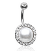Royal Luxuriant Jewelled Pearl Belly Piercing Ring