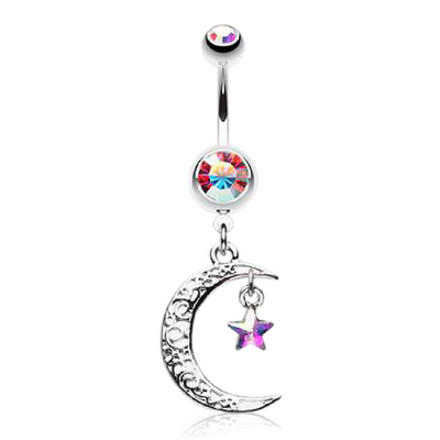 Sun and Moon Belly Rings