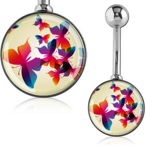 Rainbow Butterfly Parade Belly Bar