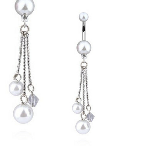 Pandora's Pearl Cascade Dangly Belly Ring