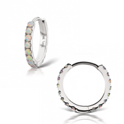 "Authentic Maria Tash 10mm - 3/8"" Opal Eternity Ring (Helix)"