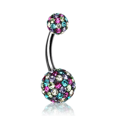 Motley Style Multi Crystal Belly Ring