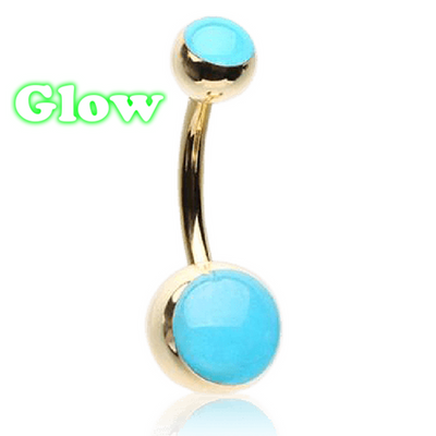 Yellow Gold Glow in the Dark Belly Bars